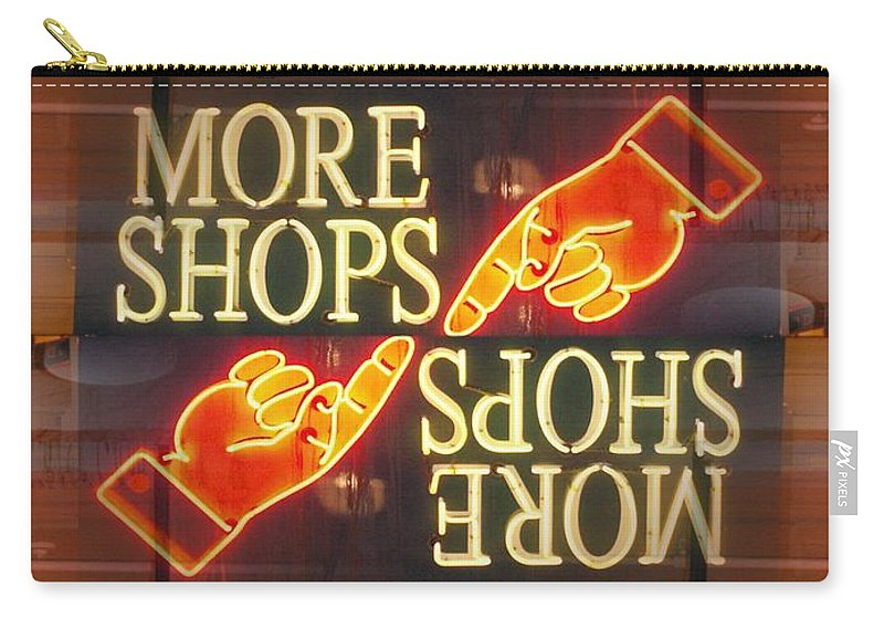 Seattle Carry-all Pouch featuring the digital art More Shops by Tim Allen