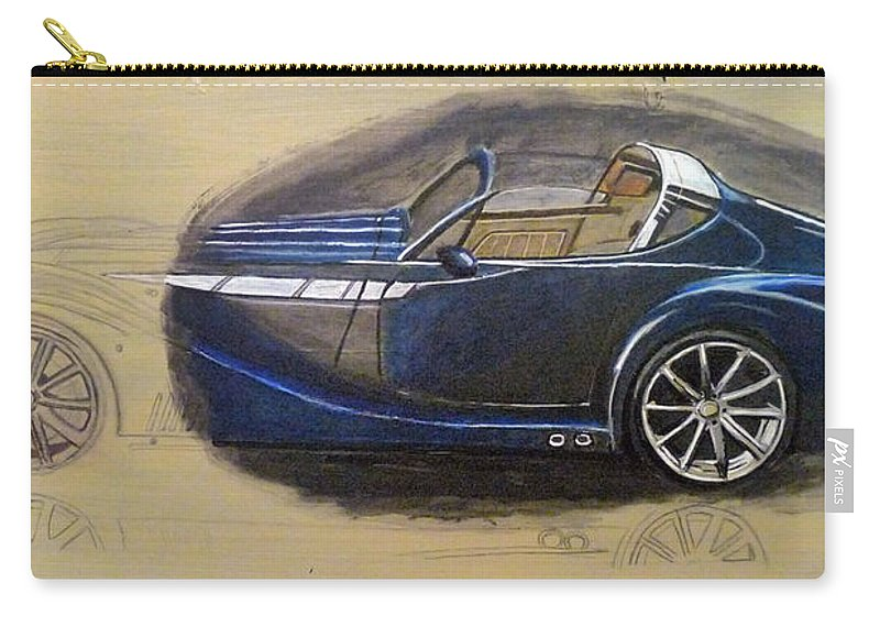 Cars Carry-all Pouch featuring the painting Morgan Aero by Richard Le Page
