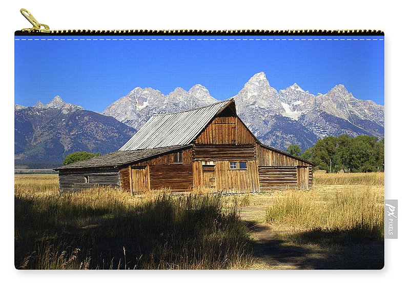 Barn Carry-all Pouch featuring the photograph Mormon Row Barn 2 by Marty Koch