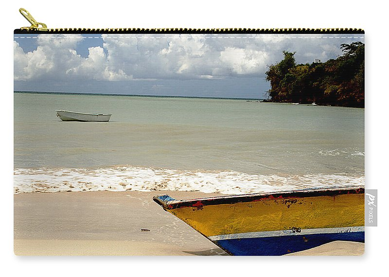 Boat Carry-all Pouch featuring the photograph Morne Rouge Boats by Jean Macaluso