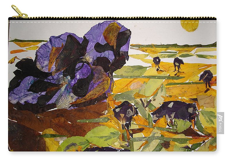 Glory Of Morning Carry-all Pouch featuring the mixed media Morning Activities by Basant Soni