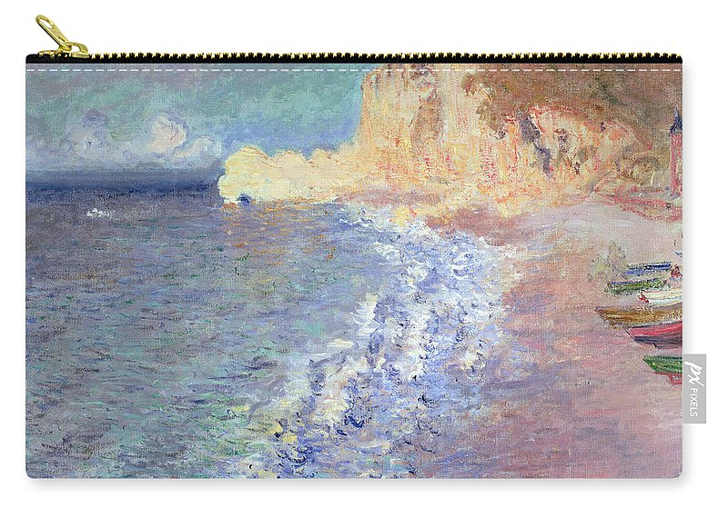 Morning Carry-all Pouch featuring the painting Morning At Etretat by Claude Monet