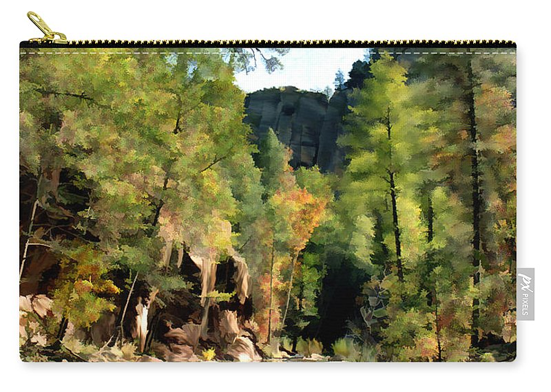 Oak Creek Arizona Carry-all Pouch featuring the photograph Morning At Oak Creek Arizona by Kurt Van Wagner