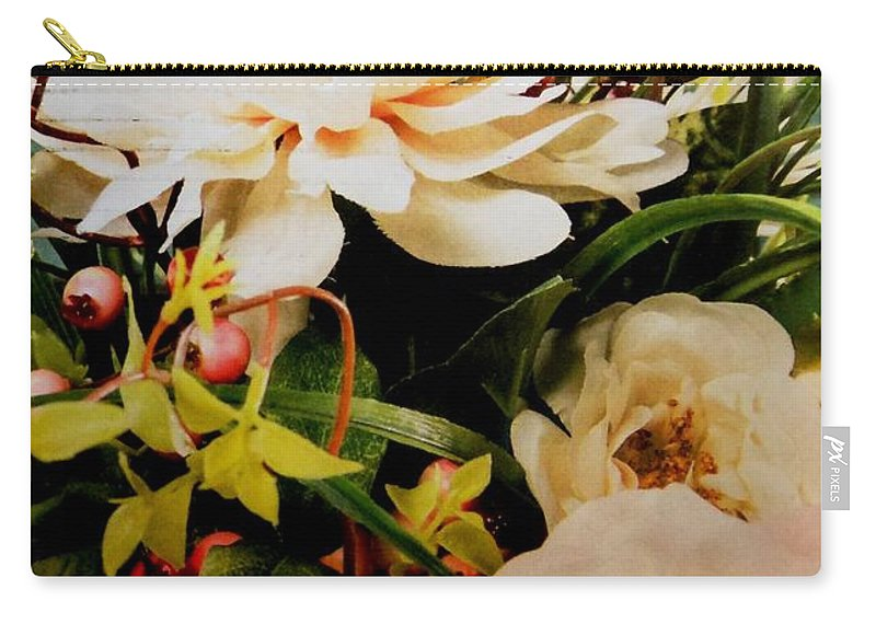 Flowers Carry-all Pouch featuring the photograph Morning Bloom by Lord Frederick Lyle Morris - Disabled Veteran
