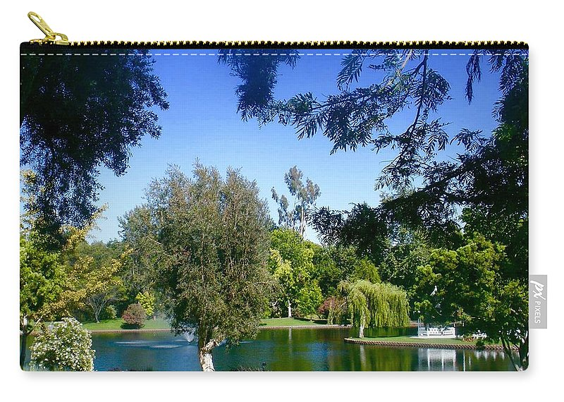 Carry-all Pouch featuring the photograph Morning By The Lake by Jacqueline Manos