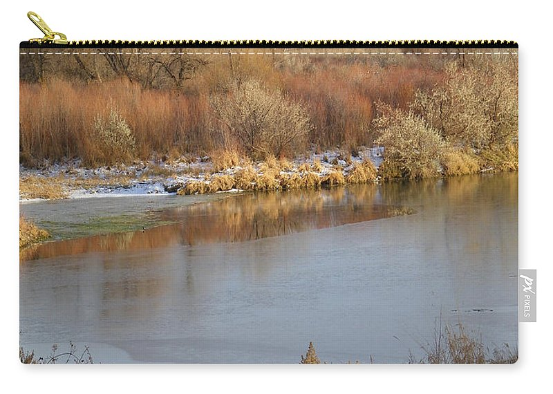 River Carry-all Pouch featuring the photograph Morning Chill by Gale Cochran-Smith