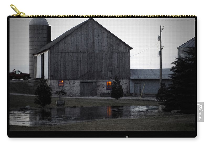 Poster Carry-all Pouch featuring the photograph Morning Chores by Tim Nyberg