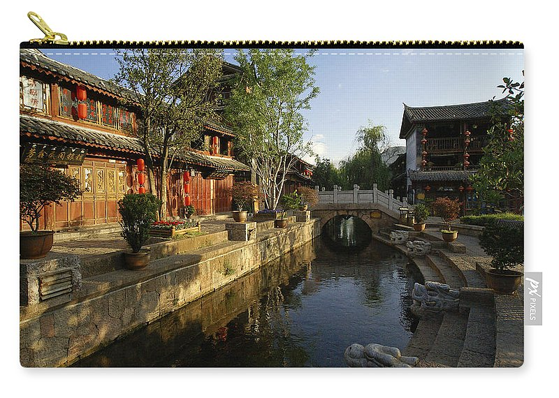 Asia Carry-all Pouch featuring the photograph Morning Comes to Lijiang Ancient Town by Michele Burgess