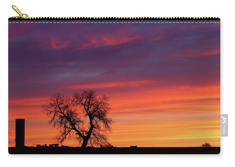 Country Prints Carry-all Pouch featuring the photograph Morning Country Sky by James BO Insogna