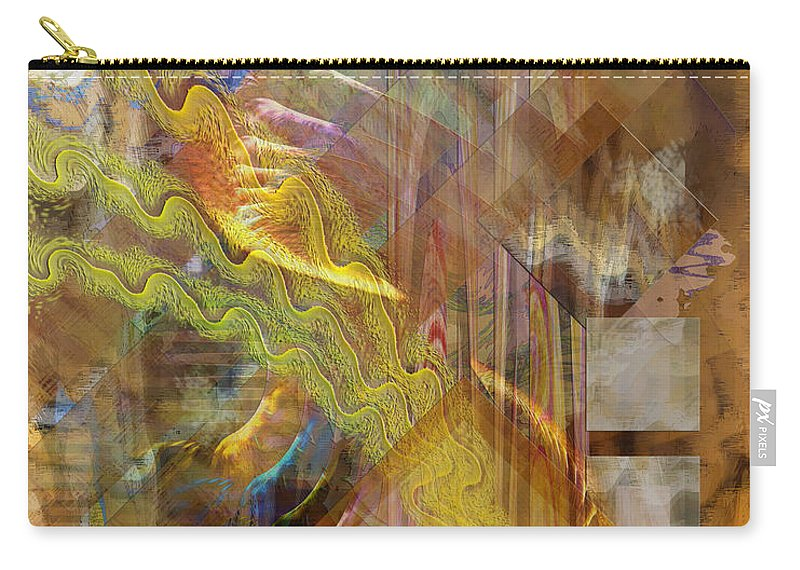 Morning Dance Carry-all Pouch featuring the digital art Morning Dance by John Beck
