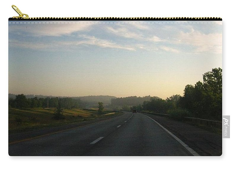 Landscape Carry-all Pouch featuring the photograph Morning Drive by Rhonda Barrett