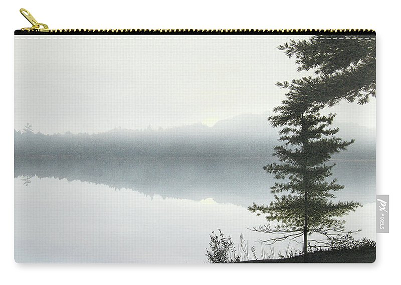 Landscapes Carry-all Pouch featuring the painting Morning Fog by Kenneth M Kirsch