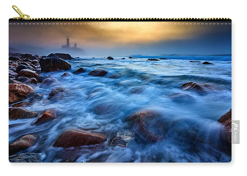 Fog Carry-all Pouch featuring the photograph Morning Fog by Rick Berk