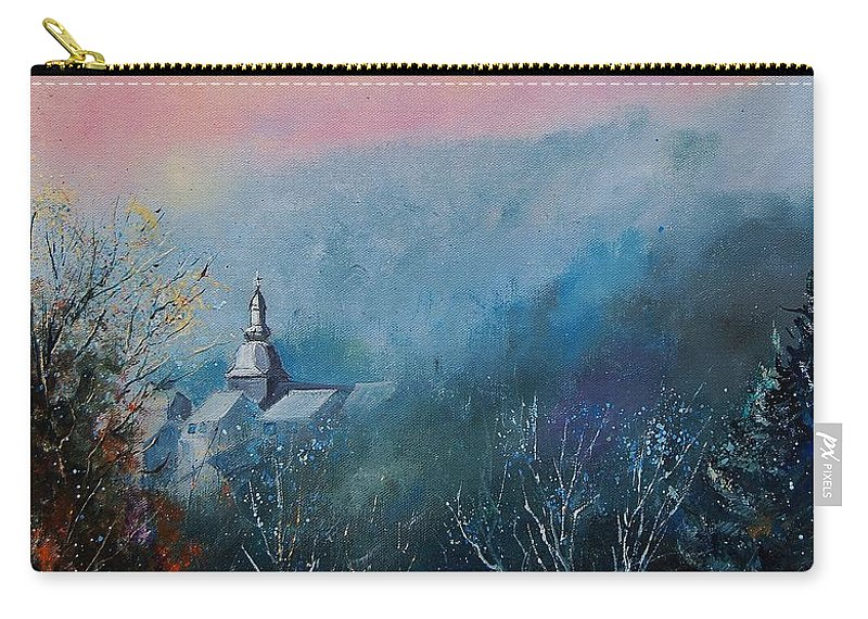 Winter Carry-all Pouch featuring the painting Morning Frost by Pol Ledent