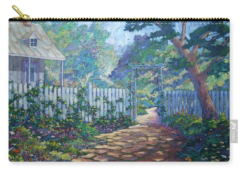 Painter Art Carry-all Pouch featuring the painting Morning Glory by Richard T Pranke