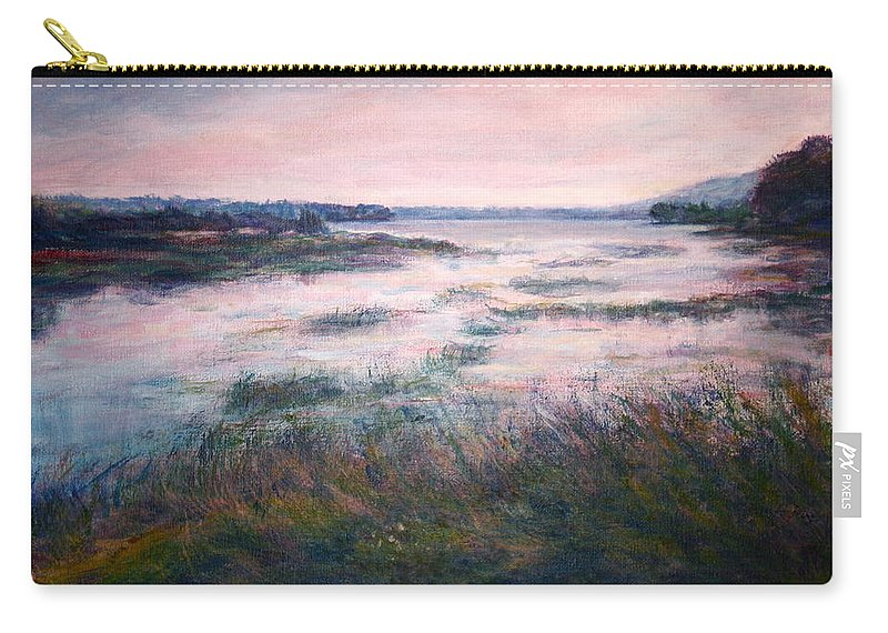 Water Carry-all Pouch featuring the painting Morning Glow by Quin Sweetman