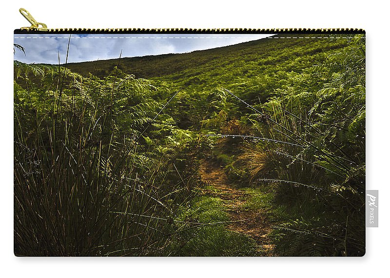 Blue Carry-all Pouch featuring the photograph Morning Grass by Svetlana Sewell