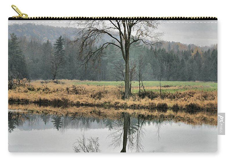Reflections Carry-all Pouch featuring the photograph Morning Haze And Reflections by Deborah Benoit