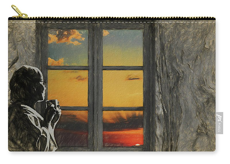 Morning Carry-all Pouch featuring the digital art Morning In America by John Haldane
