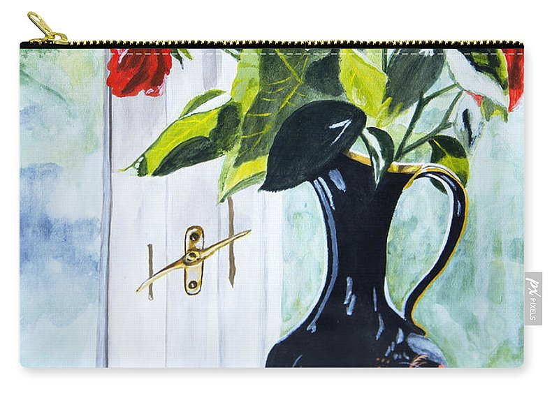 Vase Carry-all Pouch featuring the painting Morning Light 2 by JoAnn DePolo