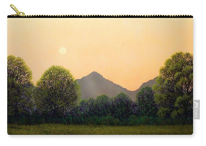 Landscape Carry-all Pouch featuring the painting Morning Light by Frank Wilson