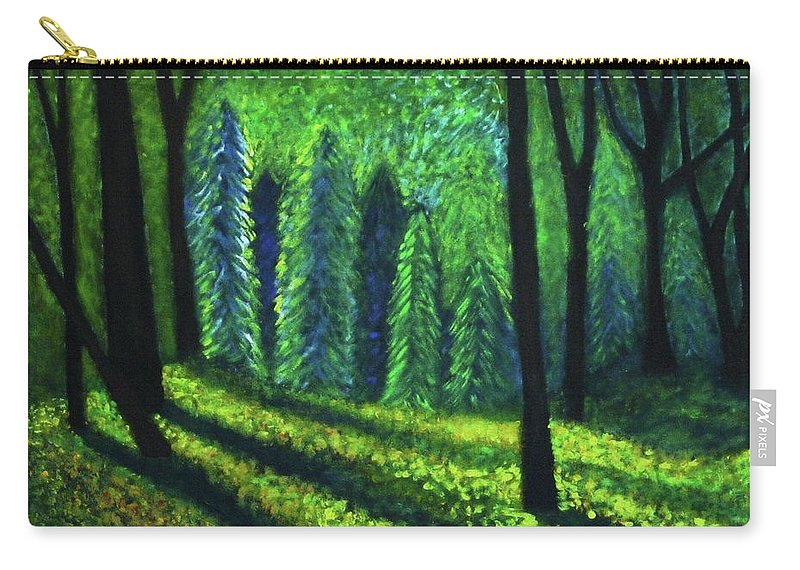 Acrylic Carry-all Pouch featuring the painting Morning Light by John Scates