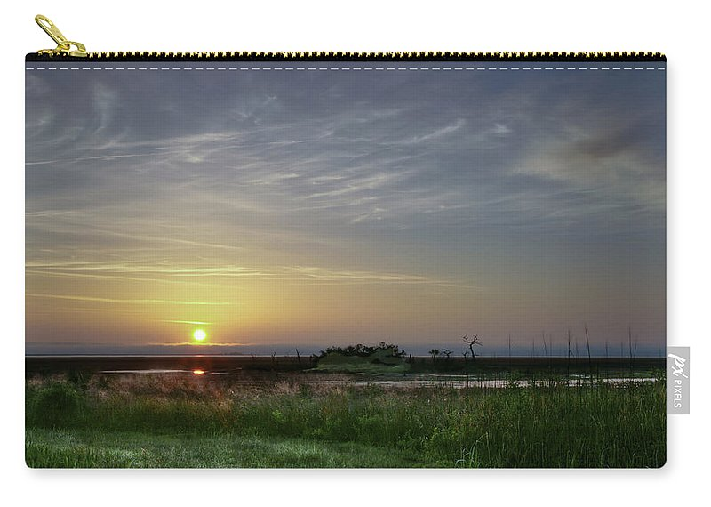 Sunrise Carry-all Pouch featuring the photograph Morning Marsh by Phill Doherty