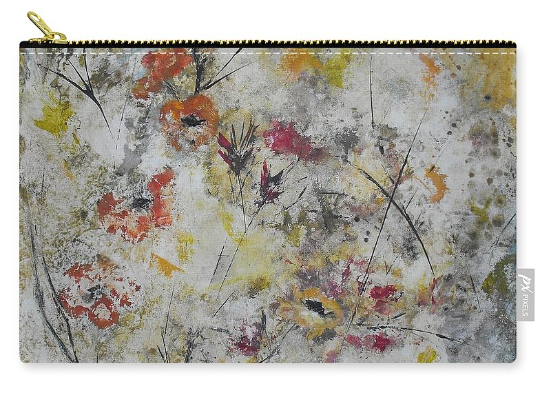 Abstract Carry-all Pouch featuring the painting Morning Mist by Ruth Palmer