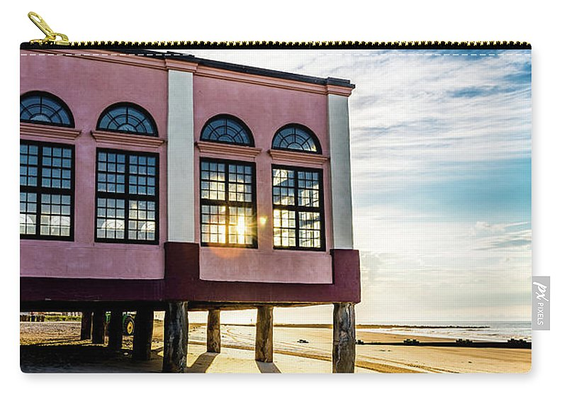 J. Zaring Carry-all Pouch featuring the photograph Morning Music Pier by Joshua Zaring
