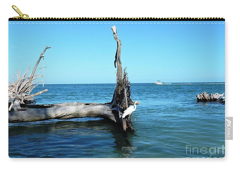 Blue Carry-all Pouch featuring the photograph Morning On Longboat Key by Beth Williams