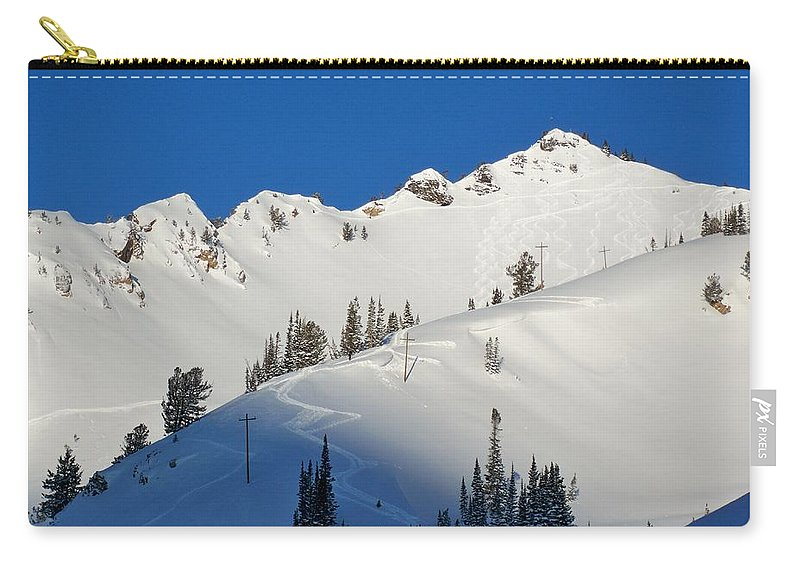 Ski Carry-all Pouch featuring the photograph Morning Pow Wow by Michael Cuozzo
