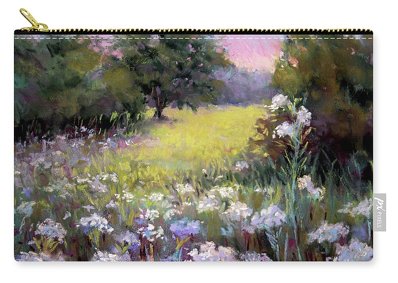 Meadow Carry-all Pouch featuring the pastel Morning Praises by Susan Jenkins
