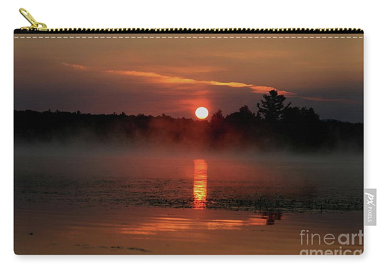 Sunrise Carry-all Pouch featuring the photograph Morning Reflections On Lake Umbagog  by Neal Eslinger