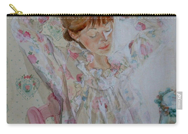 Morning Carry-all Pouch featuring the painting Morning Ritual by Jean Blackmer
