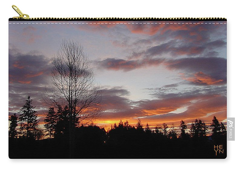 Sun Carry-all Pouch featuring the photograph Morning Silhouetted - 1 by Shirley Heyn