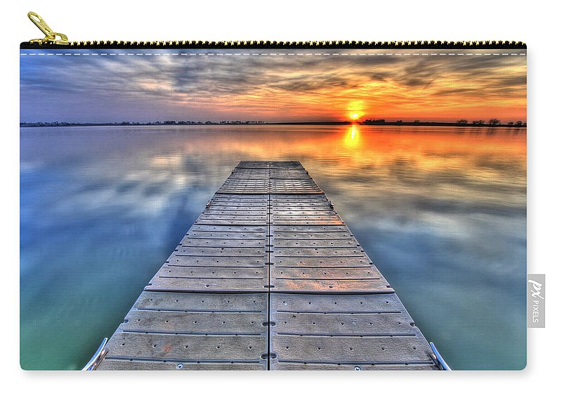 Dock Carry-all Pouch featuring the photograph Morning Sky by Scott Mahon
