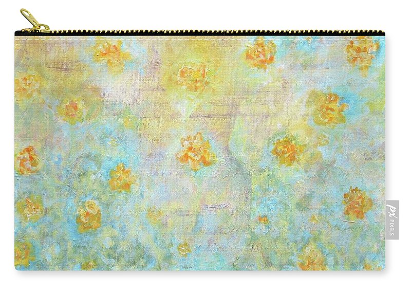 Landscape Carry-all Pouch featuring the painting Morning Spring by Ishwar Malleret