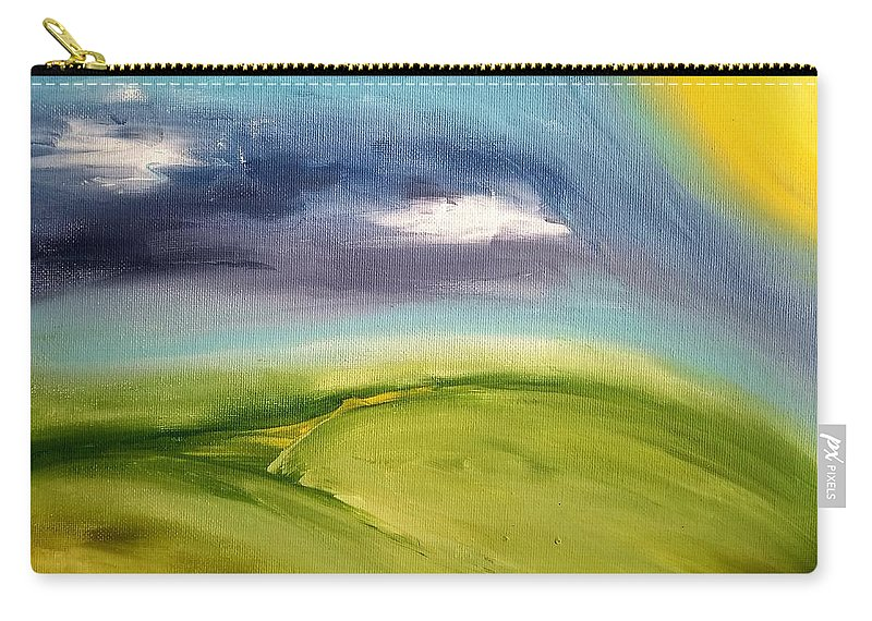 Sun Carry-all Pouch featuring the painting Morning Sun by Crystal White