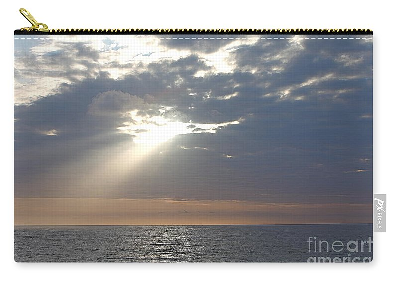 Sky Carry-all Pouch featuring the photograph Morning Sunburst by Nadine Rippelmeyer