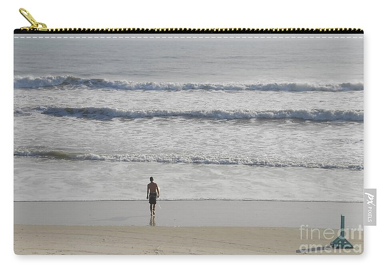Surfing Carry-all Pouch featuring the photograph Morning Surf by David Lee Thompson