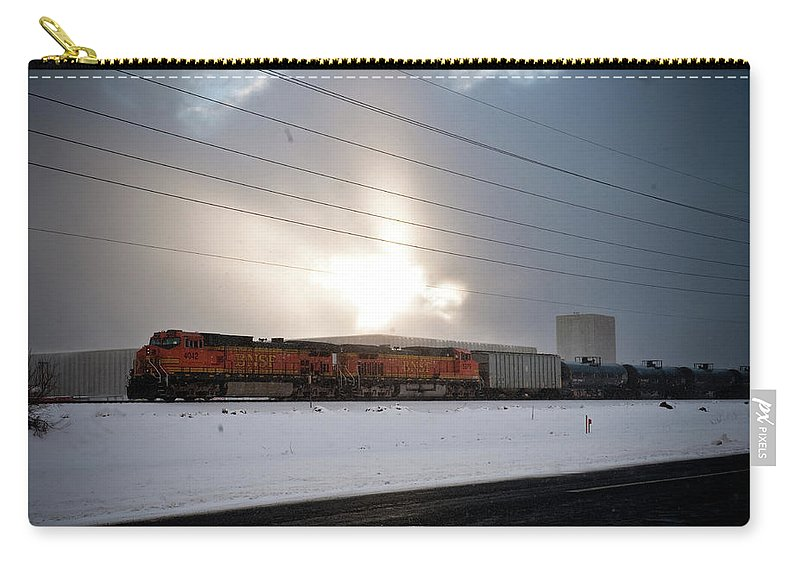 Seshat Carry-all Pouch featuring the photograph Morning Train by Scott Sawyer