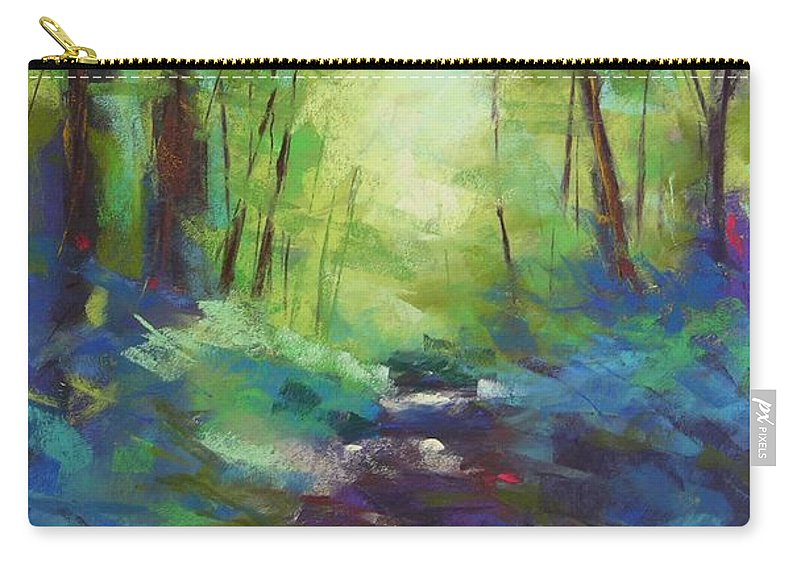 Pastel Carry-all Pouch featuring the painting Morning Walk I by Mary McInnis