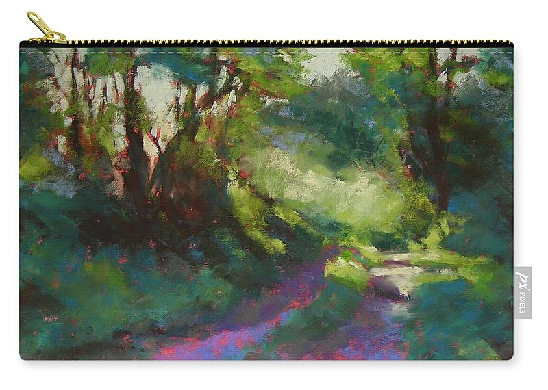 Pastel Carry-all Pouch featuring the painting Morning Walk II by Mary McInnis