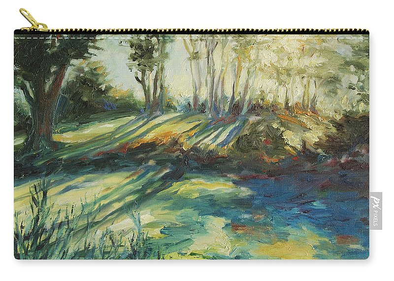 Sunrise Carry-all Pouch featuring the painting Morning Walk by Rick Nederlof