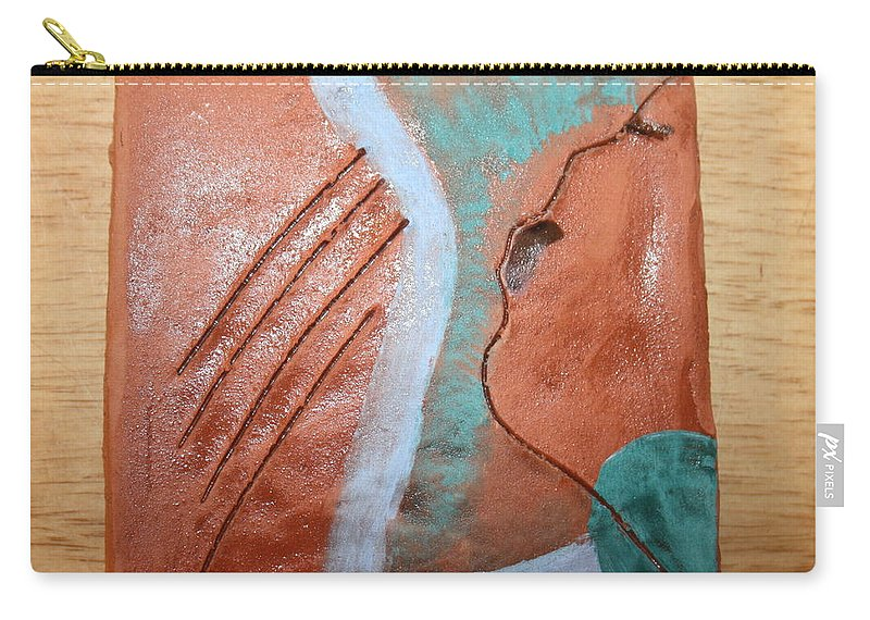 Jesus Carry-all Pouch featuring the ceramic art Mornings - Tile by Gloria Ssali