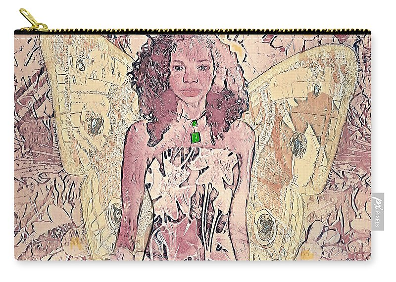 Butterfly Carry-all Pouch featuring the mixed media Mornings First Light by Amelia Carrie