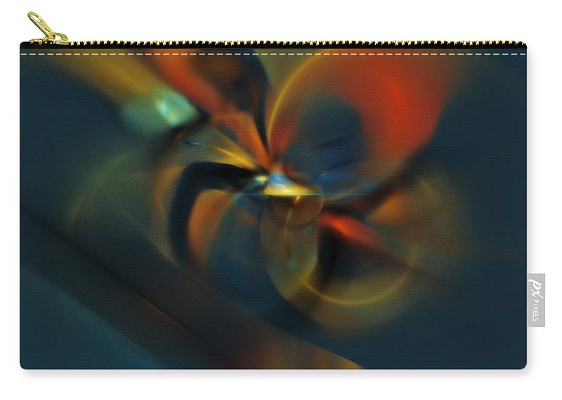 Digital Painting Carry-all Pouch featuring the digital art Mornings Slippery Slope by David Lane
