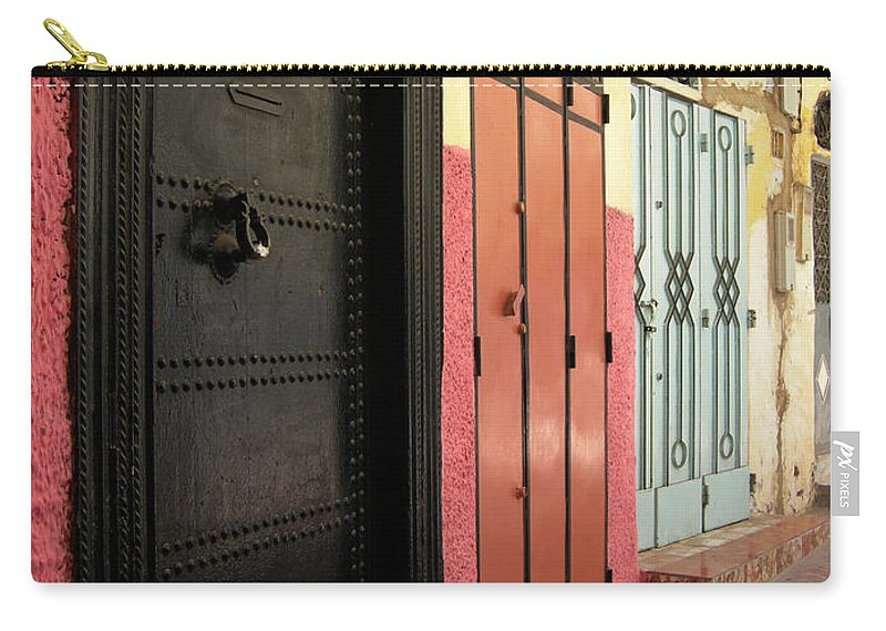 Morocco Carry-all Pouch featuring the photograph Moroccan Doors by Fay Lawrence