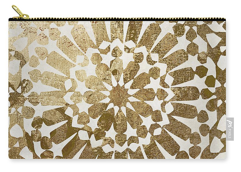 Gold Carry-all Pouch featuring the painting Moroccan Gold II by Mindy Sommers