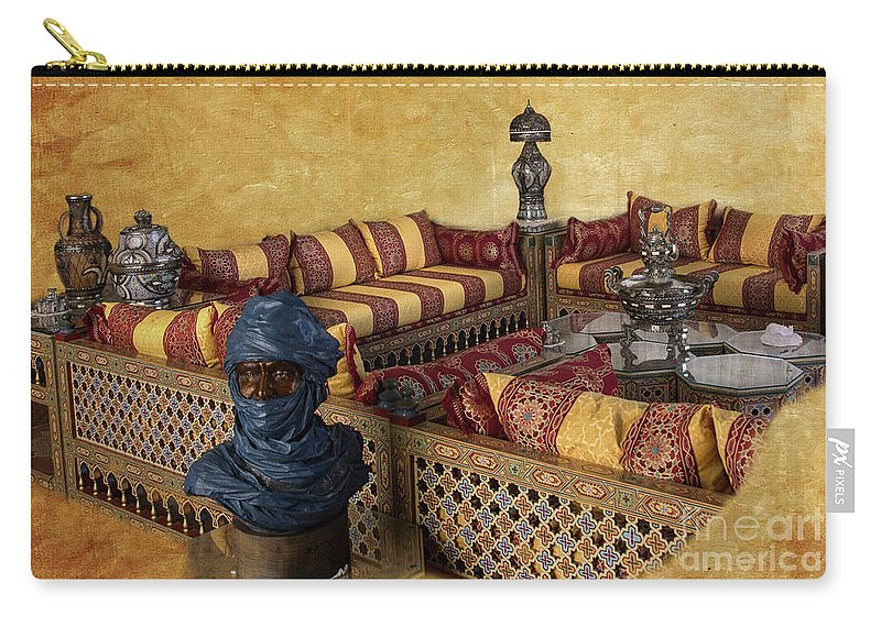 Morocoo Carry-all Pouch featuring the photograph Moroccan Room by Elisabeth Lucas